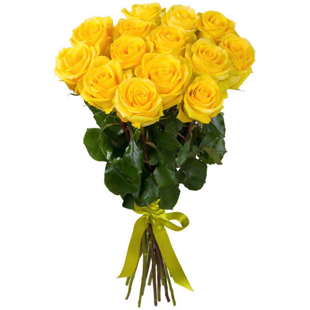 Букет из 15 желтых роз